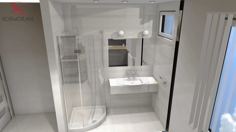 Projekt 3d Małej łazienki Kormoran Grzegorz Ptak