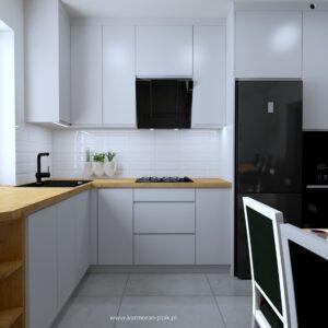 Projekt kuchni Lancelot i fronty lakierowane
